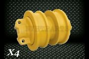 Double Flange Roller X4 For Cat D6h Crawler 7t4107