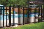 90 Linear Feet Of 54 High Georgia Style Pool Code Aluminum Fence W/posts And Caps