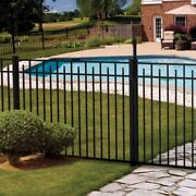90and039 Of 54 High Carolina Style Pool Code Aluminum Fence W/posts And Caps