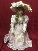 Thelma Resch Young Girl 1994 31/2000 Porcelain Doll Pink W White Lace 30