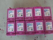 Lot Of 10 Hp 61 Empty Virgin Ink Cartridges - Clean Not Electronically Tested