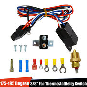 3/8 175185 Electric Engine Fan Thermostat Temperature Relay Switch Sensor Kit