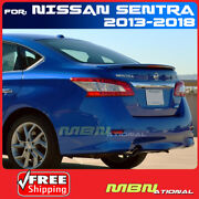 For 13-18 Nissan Sentra Rear Trunk Spoiler Deck Painted Nac Carmine Red Metallic