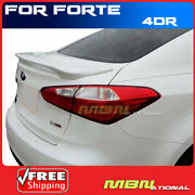 Painted Spoiler For 14-18 Kia Forte Sedan Rear Trunk 2-post Swp Snow White Pearl