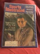 Joe Paterno Signed 1986 Sportsman Of Year Sports Illustrated/penn St./died 2012