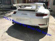 Frp Bar For 16-18 Porsche 911 991.2 Gt3-style Rear Bumper Middle Exhaust Pipe