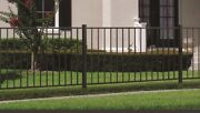 180 Linear Feet Of 4and039 High Texas Style Aluminum Pool Code Fence W/posts And Caps