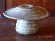 SIGNED BUTLER ? HAND THROWN STUDIO POTTERY VINTAGE WEED POT MUSHROOM FORM