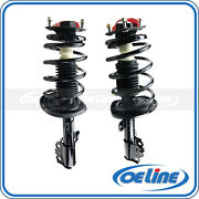 2x Quick Complete Front Strut Coil Spring Shocks Assembly For 04-06 Toyota Camry