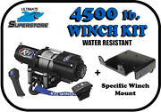 Kfi 4500 Lb. Winch Mount Kit And03910-and03919 Can-am Commander 800 / 1000 / E