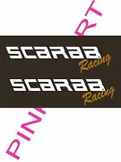 2- Scarab Racing Decals Vinyl Sticker 2- 12and039and039 X 3 Scarab Boat Boats Decal Usa