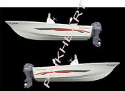 Custom Hull Boat Kit Fl And039s Large Decal Sticker Decal Emblem Graphics Decals Usa