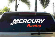Mercury Racing Small Truck Trailer Decal Red And White Usa Stickers Decals