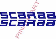 2- Scarab Decals Vinyl Sticker 58x6 Boat Boats Decal Usa Left Right Decal