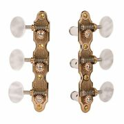 Sloane Classical Guitar Machines With Stippled Bronze Baseplates Pearloid Knobs
