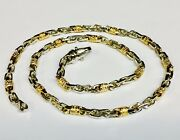 10k Solid Gold Handmade Fashion Link Menand039s Chain/necklace 22 42 Grams 4.5 Mm