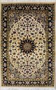 Rugstc 3x5 Senneh Pak Persian Beige Area Rug Hand-knottedfloral With Wool Pile