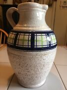 """Vintage  Rosenthal Netter Bitossi Pottery Italy Pitcher 11""""  Excellent"""
