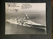 9 Uss Indianapolis Survivors Signed 11x14 Photo Wwii Autographed