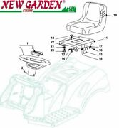 Exploded View Seat And Steering Wheel Mower Lawn 38 5/8in Xd140 Castelgarden Parts