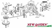 Transmission Exploded View 40 3/16in Xt140hd Mower Castelgarden 2002 - 2013