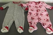 Carters Santas Helper And My First Christmas One Piece Baby Jumpsuit 3 Month