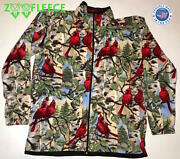 Zoofleece Cardinal Sweater Jacket Bird Red For Her Womenand039s Animal Coat S-3x