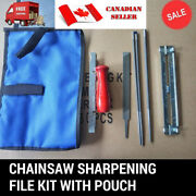 8 Pcs Chainsaw Chain Files Guide Kit Flat 3/16 Depth Gauge Sharpening For .325
