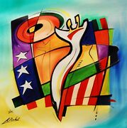 Stars And Stripes Forever By Alfred Gockel Fine Art On Canvas Abstract