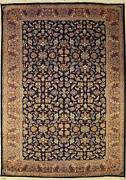 Rugstc 6x9 Senneh Pak Persian Blue Area Rug Hand-knottedmahal With Silk/wool