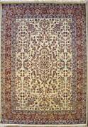 Rugstc 5x8 Senneh Pak Persian White Area Rug Hand-knottedfloral With Wool Pile