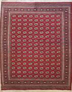 Rugstc 9x12 Bokhara Jaldar Red Area Ruggenuine Hand-knotted Wool Pile