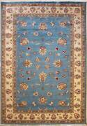 Rugstc 6x9 Senneh Pak Persian Blue Area Rug Hand-knottedfloral With Wool Pile