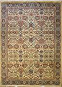 Rugstc 8x10 Senneh Pak Persian White Area Rug Hand-knottedbaghban With Wool