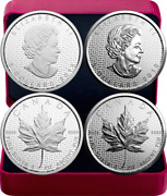 2018 Silver Maple Leaf 30-anniversary 2oz Silver Set 2 5-coins Proof Canada Sml