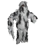 Tactical Militaryandhunting Fully Covered Sniper Ghillie Set - Snow Camouflage