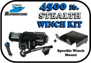 Kfi 4500 Lb. Stealth Winch Mount Kit And03913-and03918 Polaris Ranger 900 / 900 Crew