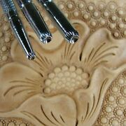 Steel Craft Japan - Lined Seeder Stamps 3-piece Set Leather Stamping Tools