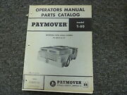 International Hough T80 Paymover Tug Parts Catalog And Owner Operator Manual Book