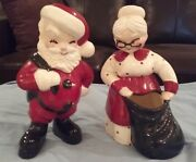 Betty Lou Nichols (SIGNED) - Vintage Santa and Mrs. Claus Ceramic Pottery