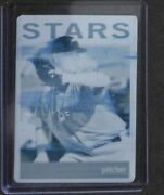 2013 Topps Heritage Minor League Cyan Printing Plate 55 Jimmy Nelson No 1 Of 1