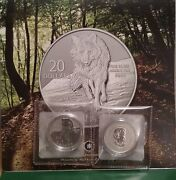 Pure Silver Wolf 2013 20 Coin Canada