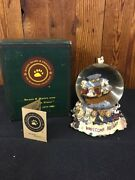 Boyd Bear Collection Bearstone Collectibles Music Globe Welcome Aboard Noahs Ark