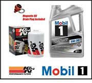 Mobil1 5w30 Engine Oil Change Kandn Filter Kit Combo For 02-06 Acura Rsx K20 Dc5