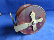 An Unusual Vintage 4 Wooden Nottingham Centrepin Reel Unusual Gothic Star Back