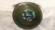 Hand Crafted Studio Pottery Bowl Signed On the Bottom Tracy Green Blue