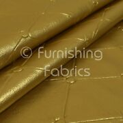 Chesterfield Design Gloss Gold Faux Leather Upholstery Furniture Seating Fabric