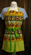 Country Kitchen Farm Animal Reversible Apron Chickens Cows Pigs Dogs