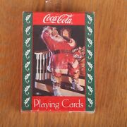 1993 Coca Cola Christmas Holiday Santa Clause Holly Deck Of Playing Cards