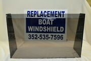 25 3/4 Id Wide Center Or Side Boat Windshield 16 High